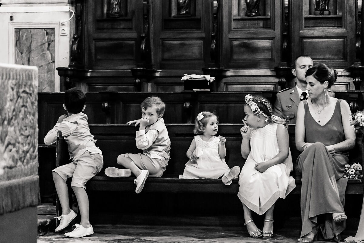 Enfants lors d'un mariage dans le Gard